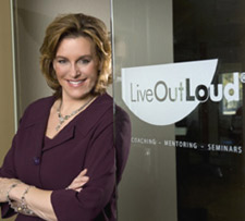 Loral Langemeier at Live Out Louds Door
